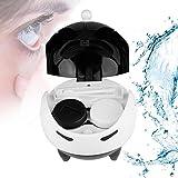 Caja de lentes de contacto, Lentes de contacto de lentes de contacto automática ultrasónica portátil Máscara de limpieza de lentes arandelas Caja de lentes más limpia, carga USB(Blanco)