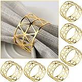 COCHIE Serviettenringe Gold,Metall serviettenring Serviettenschnallen Blätter für Hochzeitsfeier Abendessen Jubiläum Tischdekoration 6 Stück
