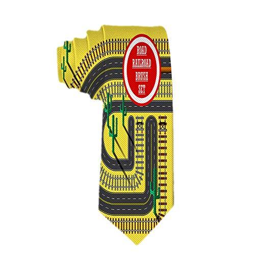 Warm Night Krawatten für Männer Vier Straßenmuster Bürsten Krawatten Gewebte Mikrofaser Satin Mode Krawatte