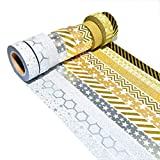 k-limit 10 Set Washi Tape Rollos de Washi Tape, Cinta Decorativa Autoadhesivo, Cinta de enmascarar, Masking Tape Scrapbooking DIY Scrapbooking DIY Navidad Christmas Idea del Regalo 9441