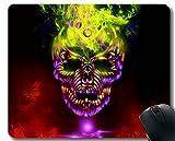 Yanteng Cojín de ratón del Juego, cojín de ratón Inspirado de la Cita del Camuflaje Oscuro del cráneo