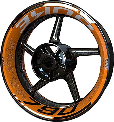 Pegatina para llanta de moto F2 para KTM 790 Duke (naranja/negro)