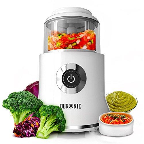 Duronic CH500 Zerkleinerer elektrisch/Universalzerkleinerer/Multizerkleinerer/Küchenmaschine mit 500W Motor und integriertem Schaber - 400ml Behälter -für Obst/Gemüse/Kräuter/Nüsse/Gewürze