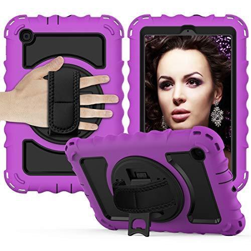 Tablet PC Bolsas Bandolera Caja protectora es for Samsung Galaxy Tab 8.4 Un T307 (2020) El caso protector durable anti-gota con todo incluido con el soporte giratorio / correa de mano y la caja protec