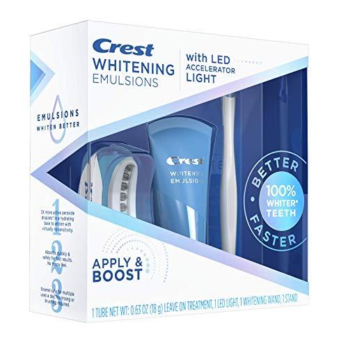 Crest Whitening Emulsions Leave-on Teeth Whitening Kit With LED Accelerator Light, 0.63 Oz
