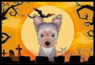 Caroline's Treasures Halloween Yorkie Puppy Indoor or Outdoor Mat, 18 by 27
