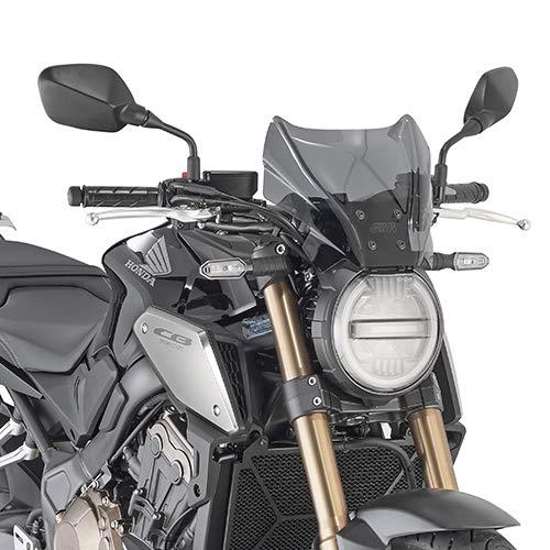 Givi - Parabrisas para pantalla de visera, cortavientos + enganches para moto scooter compatible con Benelli 502 C 2019