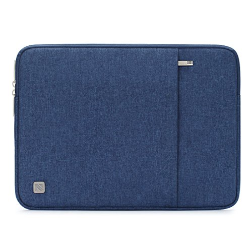 NIDOO 13.3 Inch Laptop Sleeve Case Water-Resistant Protective Bag Portable Carring For 13' MacBook Air 2013-2017/13.5' Surface Book 3/14' ThinkPad X1 Carbon / X1 Yoga 2020/14' Swift 3 5 2020, Blue