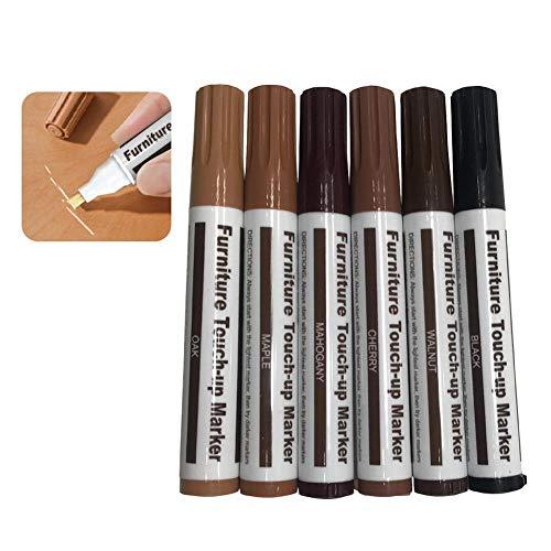 Möbel Reparatur Stift Marker Stift, Möbel Kratzer Stift, Wachs Kratzer Füller Entferner Reparatur Fix Komplementär Farbstift für Holzboden Reparatur