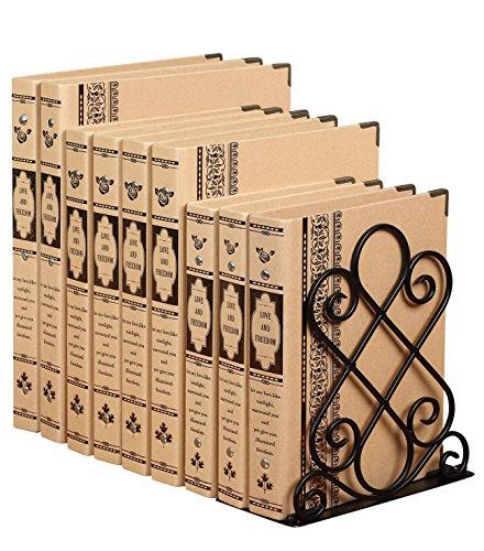 Antike Design Groß Buchstützen aus metall - Dekorativ Buchstütze Home - 180 x 200 x 220mm - Schwer und stabil bookends