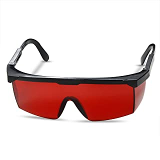 FreeMascot OD 4+ 190nm-550nm Wavelength Laser Safety Glasses for Typical 405nm, 445nm, 450nm,520nm,532nm Laser Light for Hair Removal Laser Treatment Eye Protection Goggles (Red)