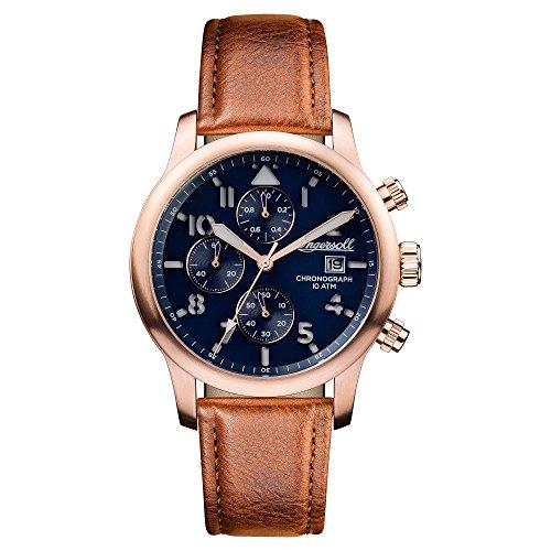 Ingersoll Herren Analog Quarz Uhr mit Leder Armband I01502