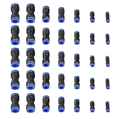 Conector de empuje recto Conector de empuje de PU Conector neumático Desconexión rápida Instalación fácil Accesorios rápidos Maquinaria Equipo de producción automática