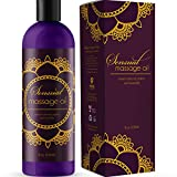 Sensual Massage Oil with Relaxing Lavender Almond Oil and Jojoba for Men and Women – 100% Natural...