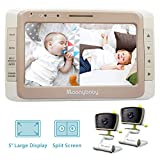 Best Baby Monitor Two Cameras - MoonyBaby Split Screen, Wide Angle, Two Cameras System Review