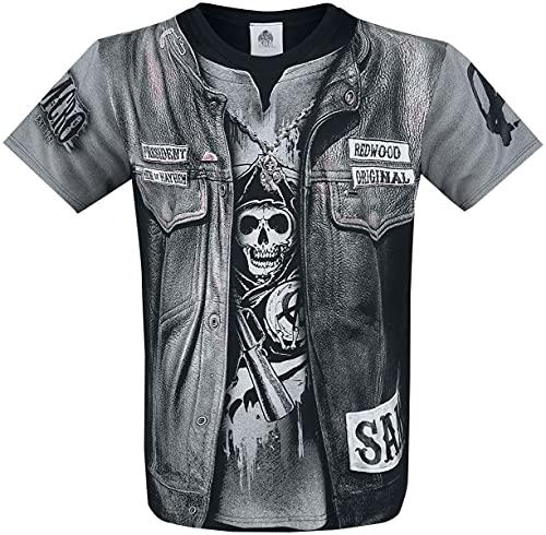 Spiral - Jax Wrap - Camiseta con Estampado Completo - Negro - S