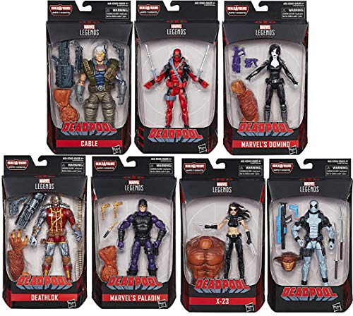 Action Figure Deadpool Marvel Legends Wave 1 Set of 7 (Sasquatch BAF)