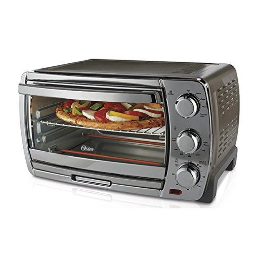 Oster Convection Countertop Toaster Oven, Medium, Silver