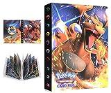 Álbum Compatible con Pokemon, Álbum Titular Compatible con Cartas Pokémon, Carpeta Álbumes Compatible con Cartas Pokemon, 30 Páginas con capacidad para 240 cartas (Charizard)