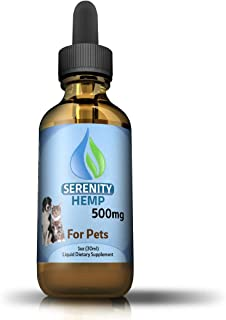 Hemp Oil for Dogs and Cats - Grown & Made in USA - Supports Hip & Joint Health, Natural Relief for Pain, Separation Anxiety, Heart Health - Herbal Drops - Hemp Seed Extract