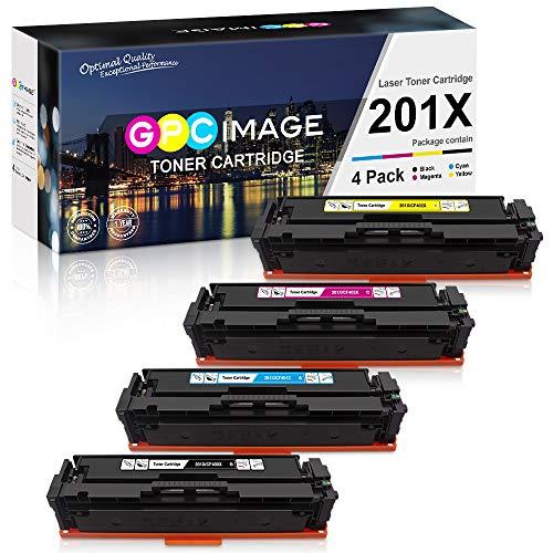 GPC Image 201X toner compatibel met HP 201X 201A CF400X CF400A toner voor HP Color LaserJet Pro MFP M277dw M277n M274n M277 LaserJet Pro M252dw M252n tonercartridge (1 zwart/1 cyaan/1 magenta/1 geel)