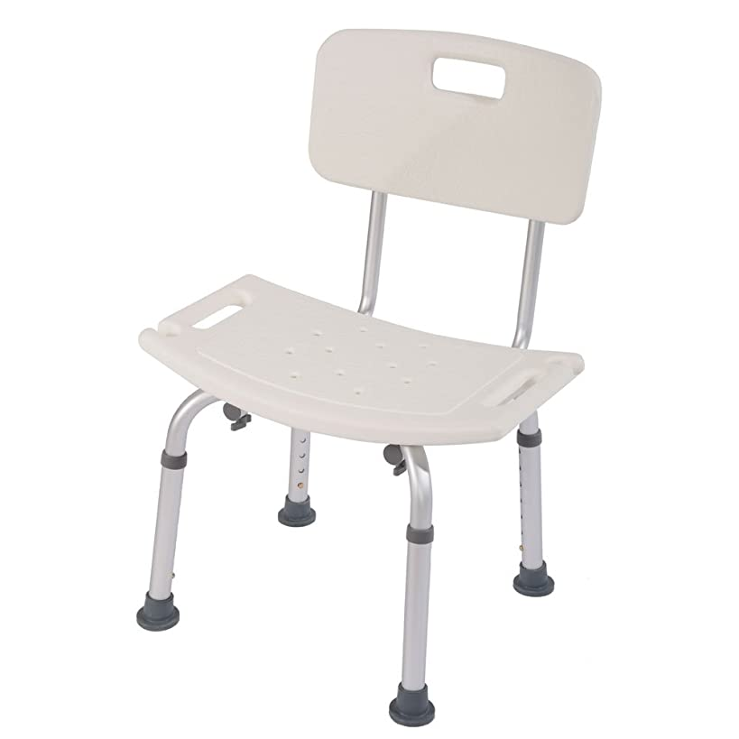 Binlin Shower Chair,Medical Tool-Free Assembly Spa Bathtub Shower Lift Chair, Portable Bath Seat, Adjustable Shower Bench, White Bathtub Lift Chair with Arms