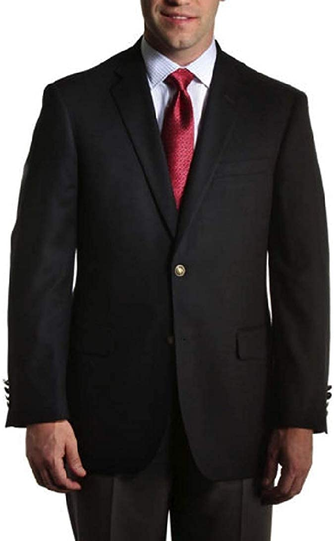 Big and Tall Black Classic Black Stretch Blazer for Business and Casual Wear to Size 72