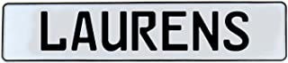 Vintage Parts 678566 Wall Art (Laurens White Stamped Aluminum Street Sign Mancave)