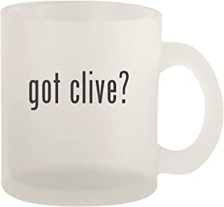got clive? - Glass 10oz Frosted Coffee Mug