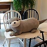 WPYLY Simulation Otter Doll Plush Toy Ragdoll sea Otter Doll Pillow Animal Ornaments Children's Holiday Birthday Gift 80cm Gray