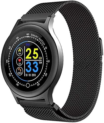 SHIJIAN Reloj inteligente pulgadas pantalla fitness tracker deportes podómetro pulsera noticias empuje recordatorio inteligente impermeable desgaste diario pulsera -A