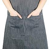 ZOLLNER Kochschürze verstellbar aus Baumwolle, 75x100 cm, schwarz/weiß (UVM.) - 4