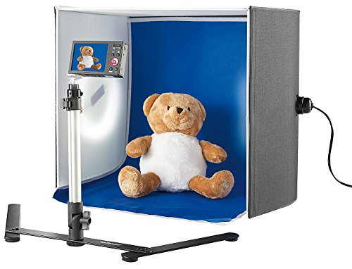 Somikon Fotobox: Professionelle Foto-Studio-Box, 2 Fotolampen & Stativ, 22 W, 1.710 lm (Produktfoto Box)