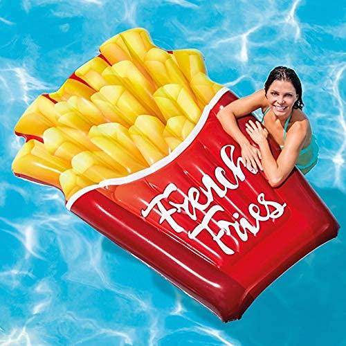LLKK Flotador inflable de la piscina, 175 × 132 CM gigante fritas fritas fila flotante inflable, juguete inflable de la piscina del agua del verano para niños y adultos