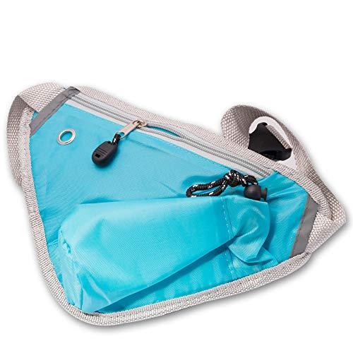 Atbeco fietstas Triangle Bag sport-loopgordel buik-, fitnesstas, compatibel met Apple iPhone Samsung Huawei Sony ASUS met uitgang voor koptelefoon en drankvak