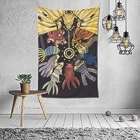 ナルト-ナインテールタペストリー壁掛け装飾壁掛け寝室リビングルーム寮スタイリッシュな色70X60 Inches