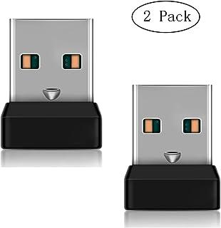 FORNORM Paquete de 2 Receptor de unificación USB para ratón y Teclado, Receptor de unificación logitech para hasta 6 Dispositivos Soporte M215 M235 M325 M545