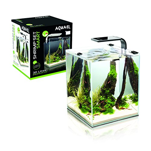 Aquael Aquarium Shrimp Set SMART LED, Komplettset mit moderner LED-Beleuchtung (schwarz, 10 Liter)
