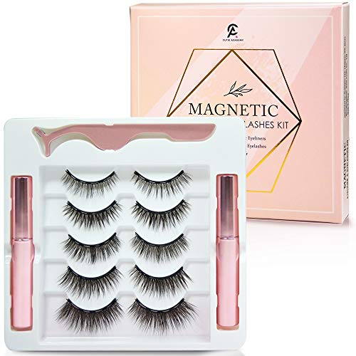 5 PAIRS MAGNETIC EYELASHES WITH 2 EYELINERS - Our Magnetic Eyelashes with Eyeliner kit is proved to be very convenient and effective way to have gorgeous lashes. Now we have this updated version with 5 pairs of magnetic lashes so you can have extra u...