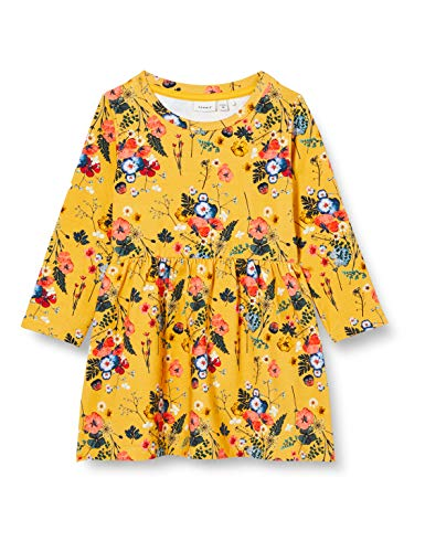 NAME IT Mädchen NMFLANA Sweat Dress UNB Kinderkleid, Spicy Mustard, 98