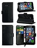 For Microsoft Lumia 640 XL Dual SIM - Black Textured Carbon