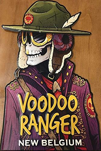 AMELIA SHARPE Metal Vintage Tin Signs Voodoo Ranger Beer Brewed in New Belgium Home Bar Restaurant Wall Decoration Sign 12X8Inch