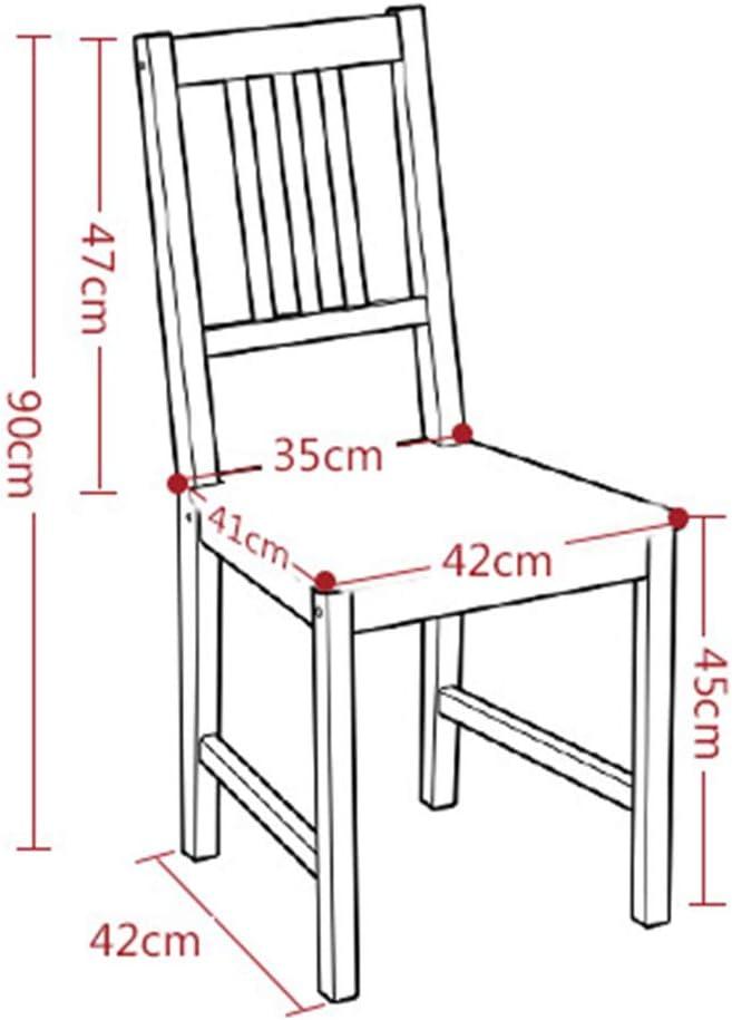 HURONG168 Chaises de cuisine Chaise minimaliste moderne chaise en bois massif chaise dossier en bois restaurant de mode siège lounge (Couleur : Noir) Bois Couleur