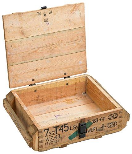 Munitionskiste T45 Natur Aufbewahrungskiste ca 49x37x18cm Militärkiste Munitionsbox Holzkiste Holzbox Weinkiste Apfelkiste Shabby Vintage - 2