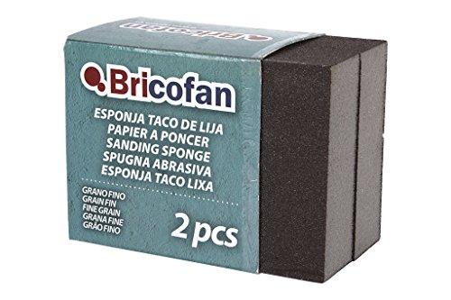 Cofan 09720852 esponjas tacos de lija, Grano fino, Set de 2 Piezas