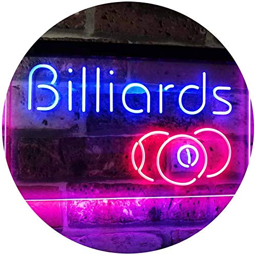 ADV PRO Billiards 9 Ball Game Room Pool Snooker Décor Man Cave Dual Color LED Barlicht Neonlicht Lichtwerbung Neon Sign Blau & Rot 400 x 300mm st6s43-i2590-br