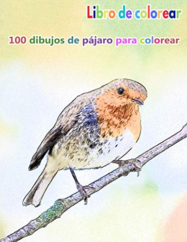 """Libro de colorear 100 dibujos de pájaro para colorear: un buen libro de 8.5"""" x 11"""" pulgadas para pasatiempos, diversión, entretenimiento y coloración ... adolescentes, adultos, hombres y mujeres"""