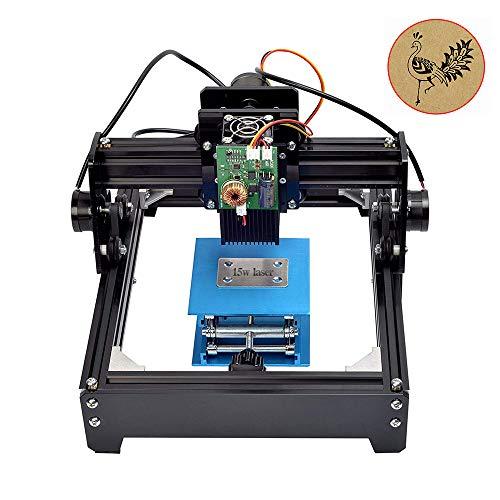 Machine de Gravure, TOPQSC 15W Mini Laser Machine Graveur Portable pour Métal Acier Fer Pierre Bois