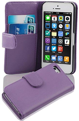 Cadorabo Apple iPhone 5C Funda de Cuero Sintético LISO en ORQUÍDEA VIOLETA Cubierta Protectora Estilo Libro con Cierre Magnético, Tarjetero y Función de Suporte Etui Case Cover Carcasa Protección Caja