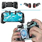 Mobile Game Controller + Active Cooling Fan Phone Radiator Grip, Compatible with iPhone/Android Phone, for PUBGG/Fortnitee/Call of Duty Mobile Games, Cooler Gaming Case Triggers L1R1 Buttons